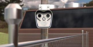 camara de seguridad vigilando el exterior